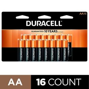 Duracell Coppertop Alkaline AA Batteries - 16/Pack