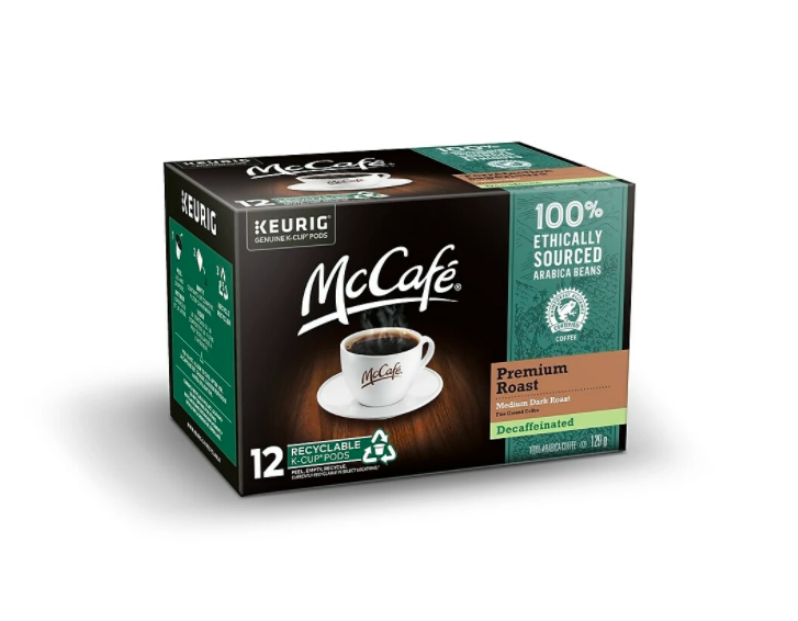 McCafé® Decaf Premium Roast Single Serve Recyclable K-Cup® Pods (12 Pack)