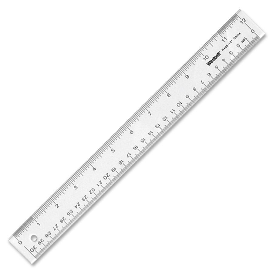 """Acme United Office Desk Acrylic 12"""" Ruler - Each"""