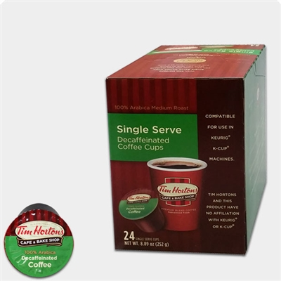 Tim Hortons® Decaf Single Serve Coffee (12 Pack)