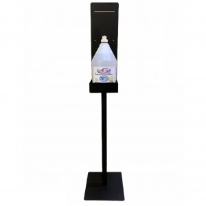 Hand Sanitizer Black Metal Stand-Alone Stand - Each