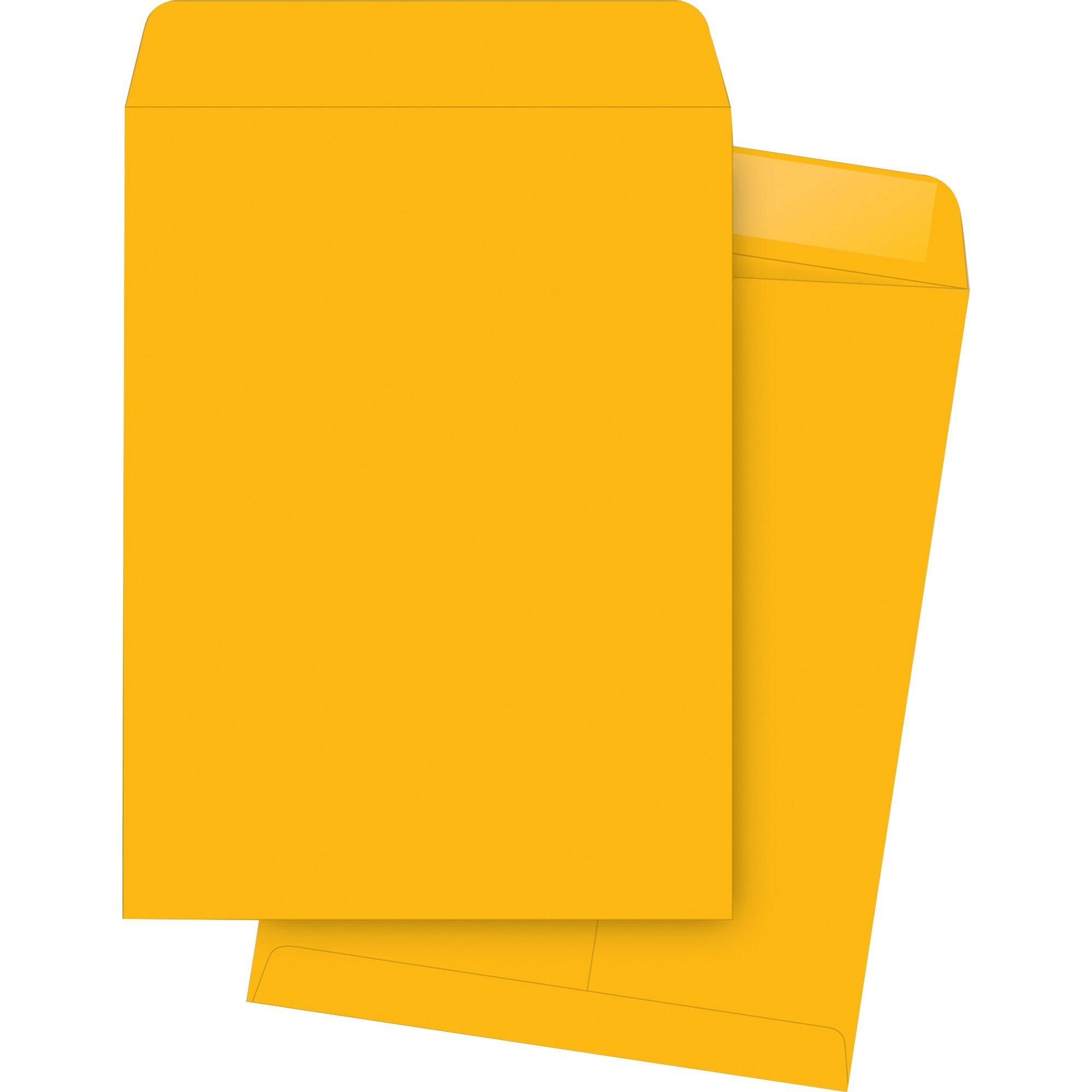 "Business Source 11 1/2"" x 14 1/2"" Length Kraft Gummed Catalog Envelopes -250/Box"
