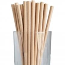 "7.75"" Jumbo Regular Kraft Paper Straws"