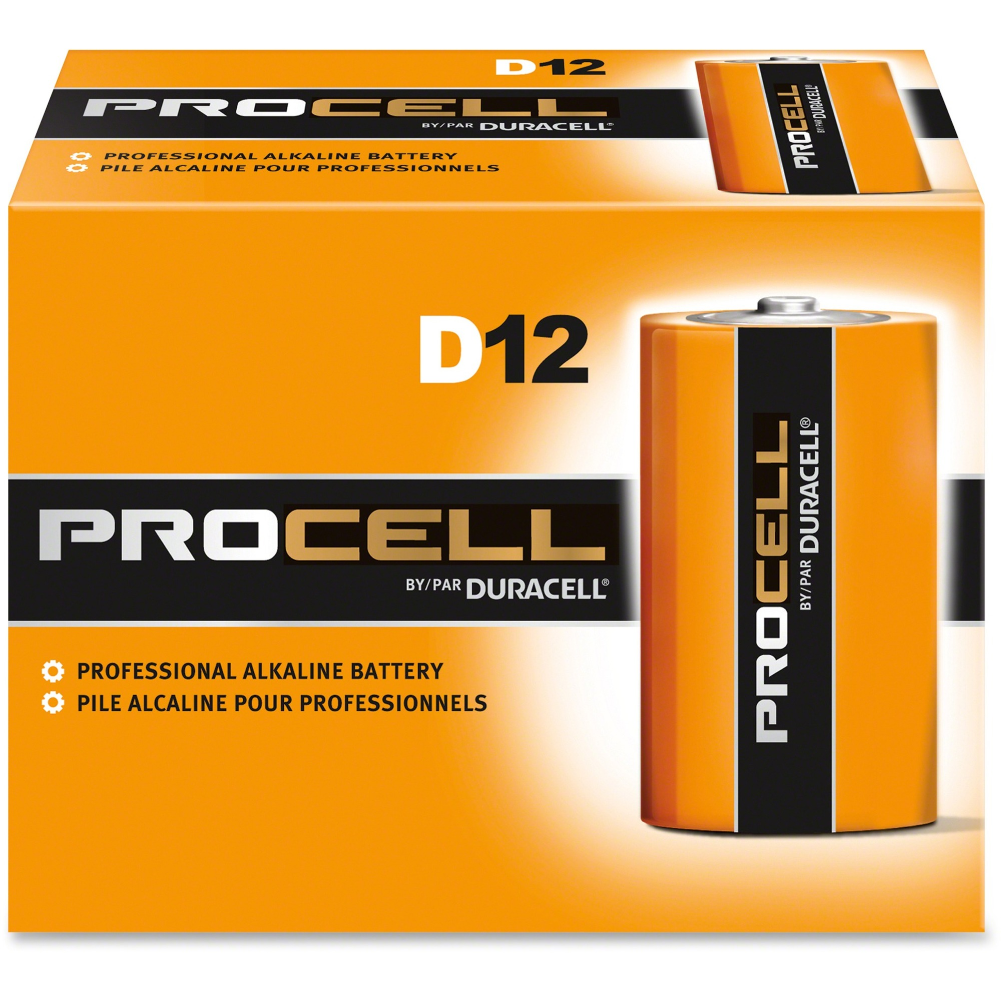 Duracell Procell Alkaline D Batteries - PC1300 - 12/pack