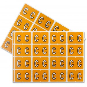 "Pendaflex Colour Coded Label - Letter ""C"""