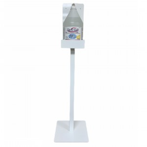 Hand Sanitizer White Metal Stand-Alone Stand - Each