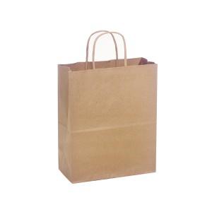 "Kraft Paper Bag with Handle 10 x 5 x 10"" - 250/case"