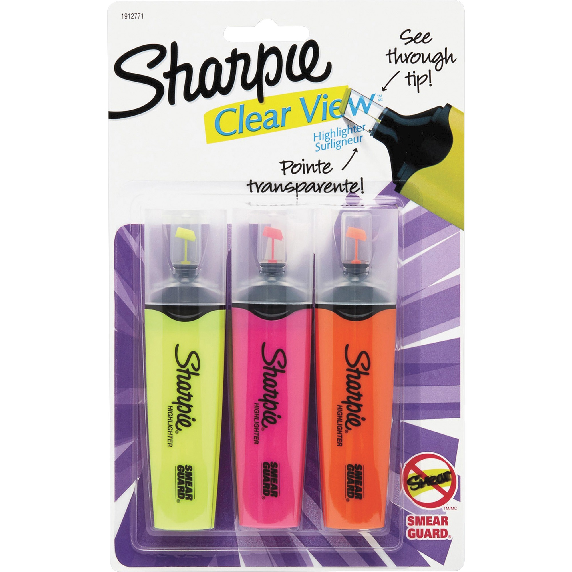 Sharpie Clear View Highlighters Set - 3/Pack