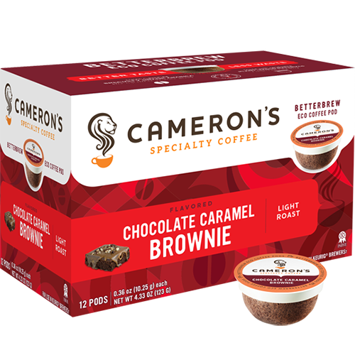 Cameron's Chocolate Caramel Brownie Single Serve Coffee (12Pack)
