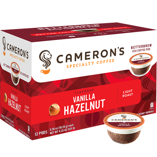 Cameron's Vanilla Hazelnut Single Serve Coffee (12Pack)