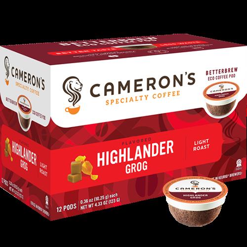 Cameron's Highlander Grog Single Serve Coffee (12Pack)