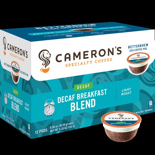 Cameron's Wood & Water Breakfast Blend Decaf Single Serve Coffee (12Pack)