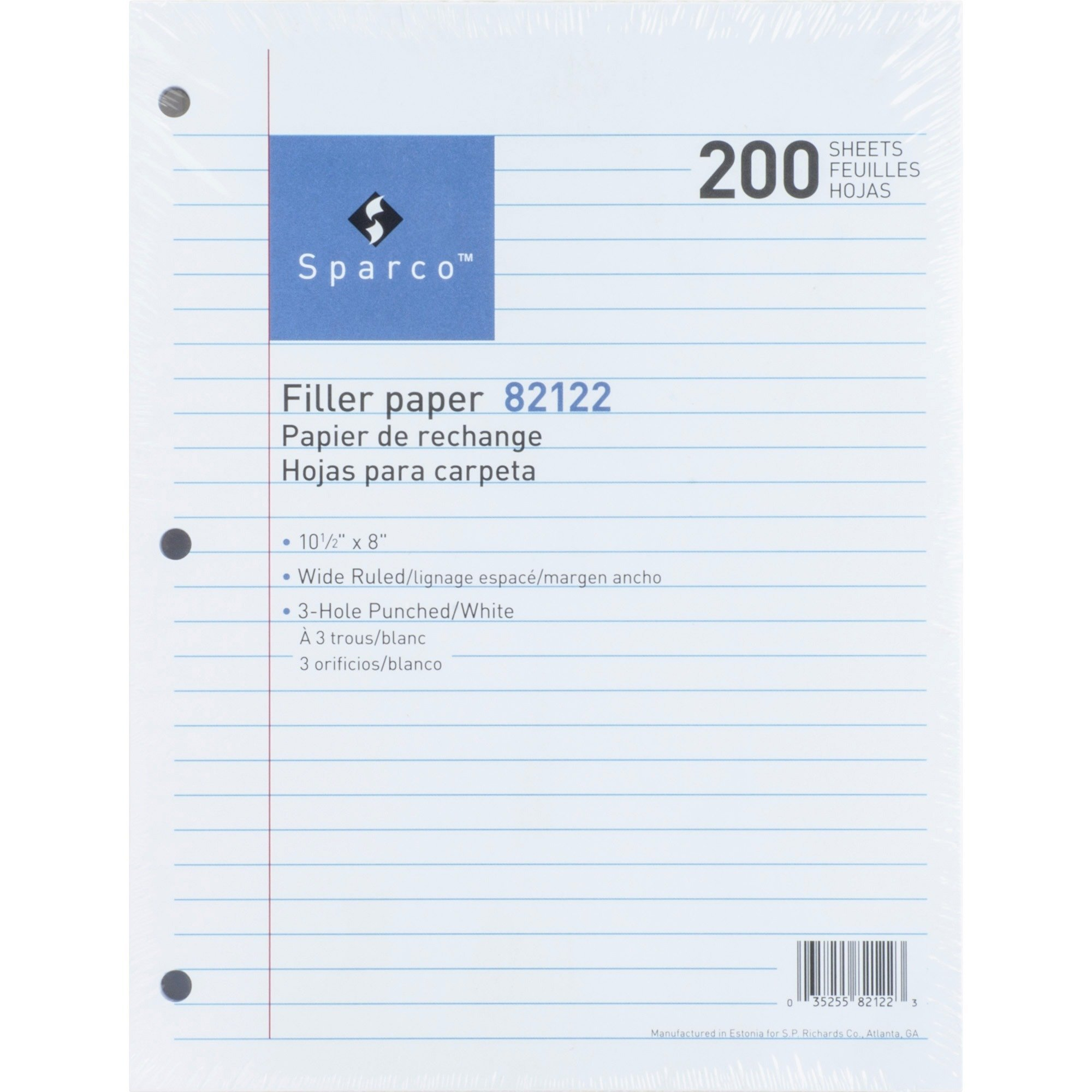 Sparco Standard White 3HP Filler Paper - 200 Sheets