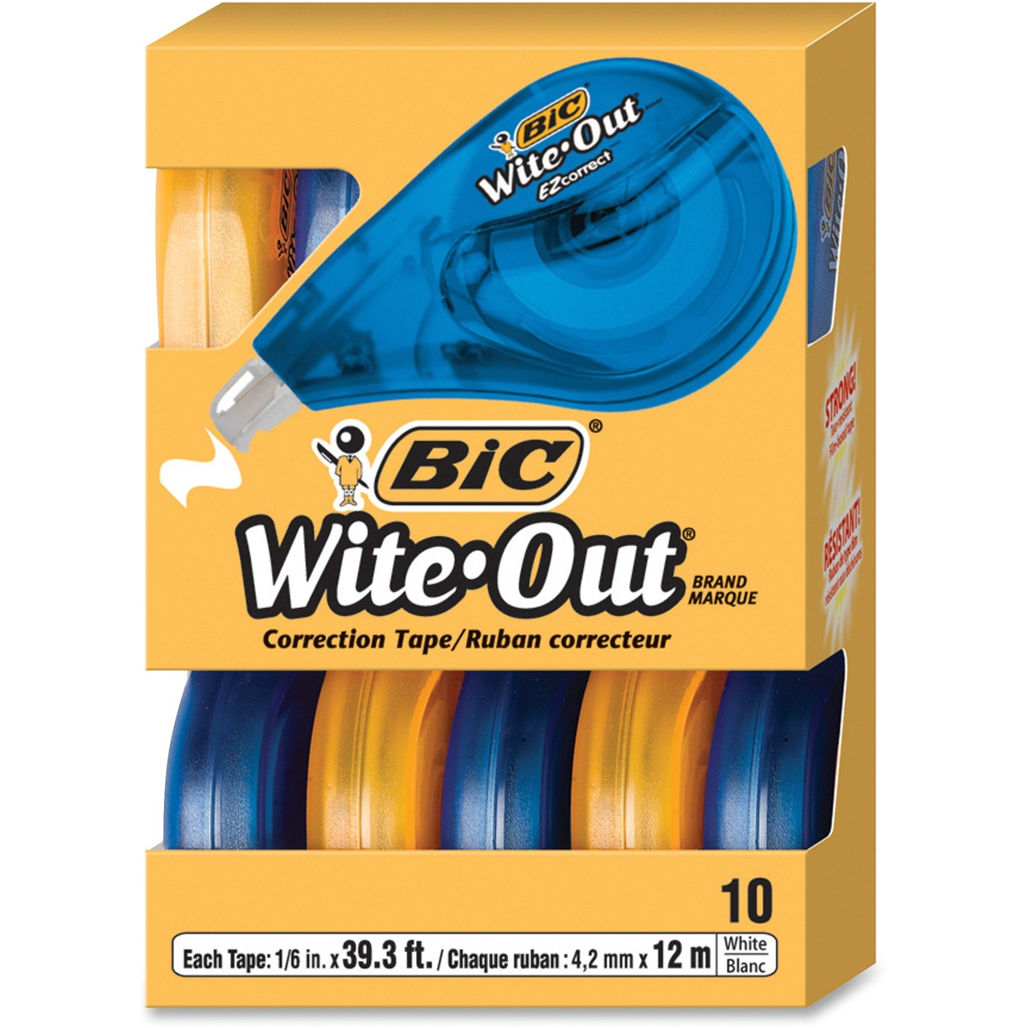 BIC Wite-Out Correction Tape - 10 pack
