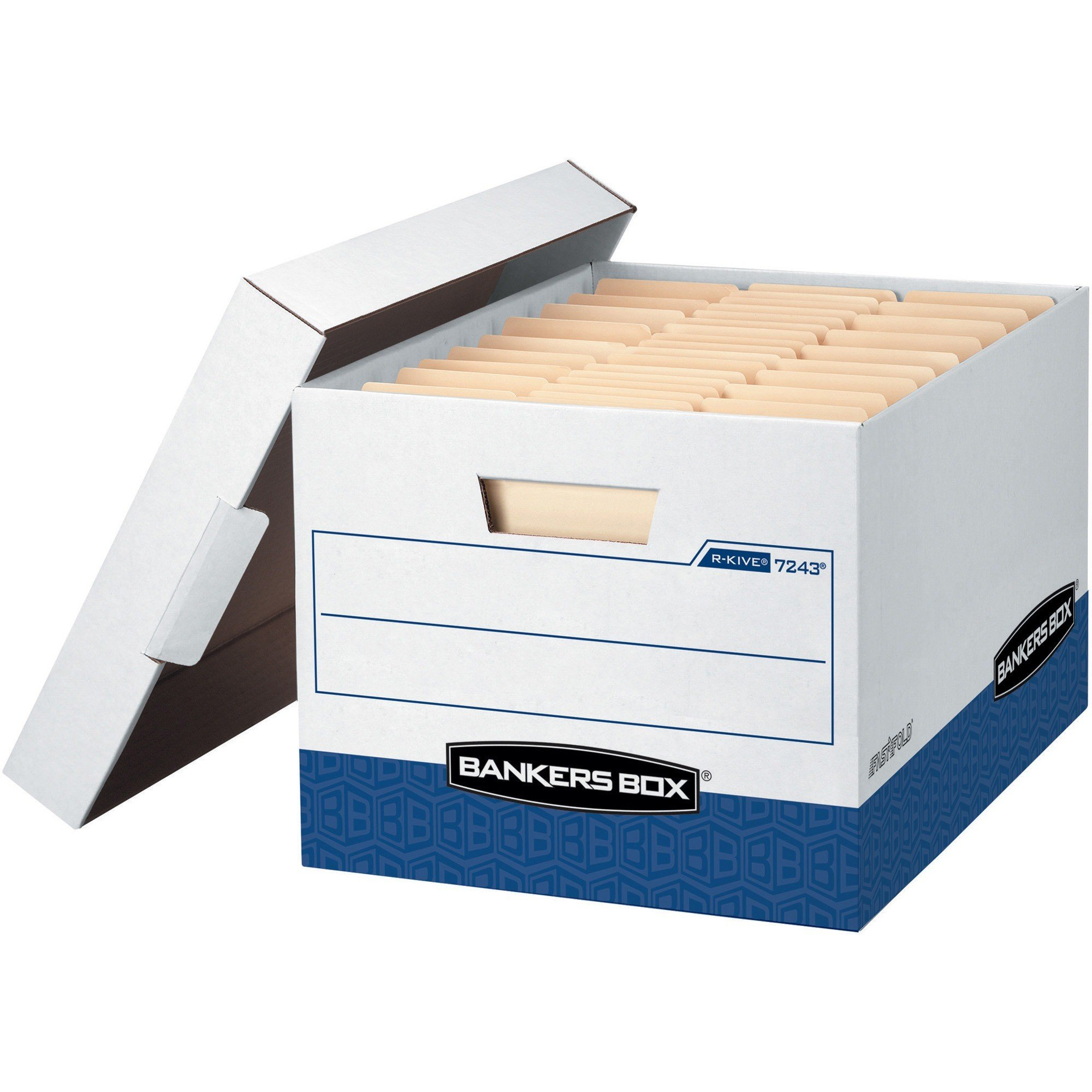 Bankers Box R-Kive - Letter/Legal, White/Blue - Each