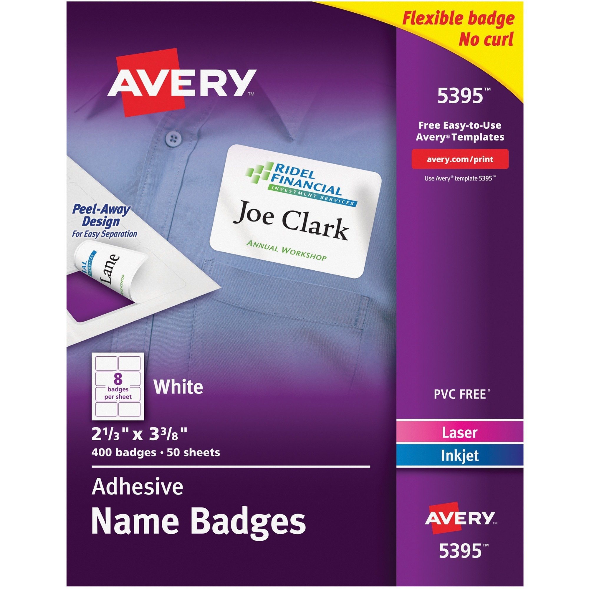 Avery® Name Badge Label - 400/Pack