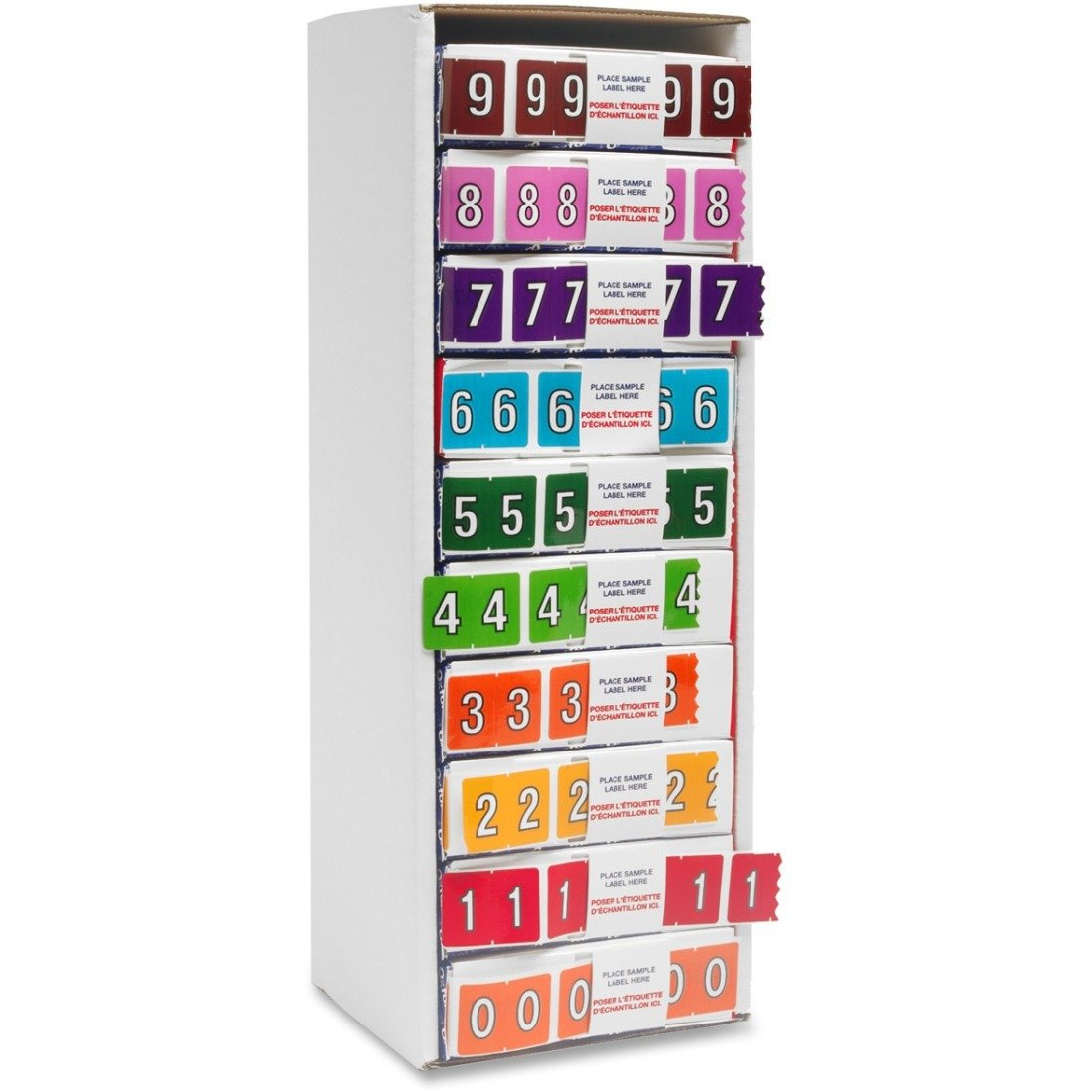 Pendaflex Color Coded Label Numbered Stickers (0-9) - 5500/box