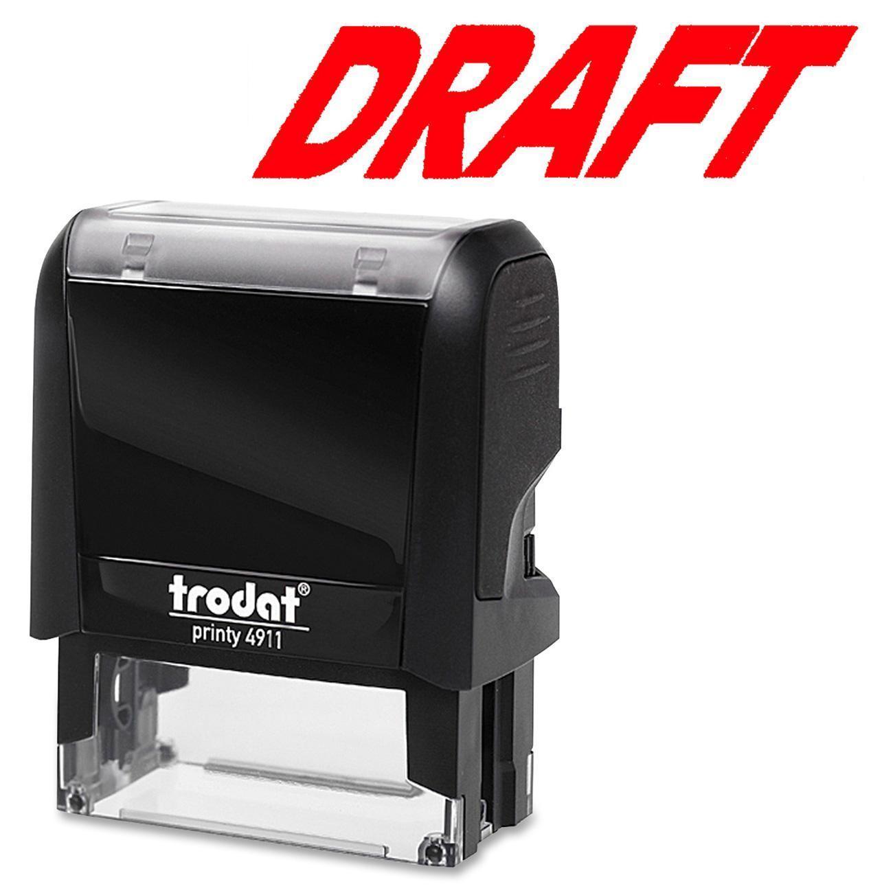 "Trodat Self Inking Stamp ""Draft"" - Each"
