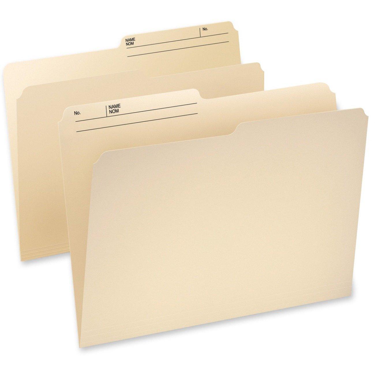 Pendaflex Cutless Watershed Top Tab File Folder - Manilla - Legal - 100/Box