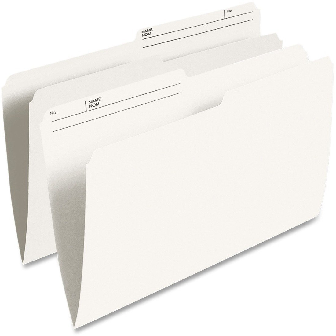 Pendaflex Single Top Vertical Colored File Folder - Ivory - Legal - 100/Box