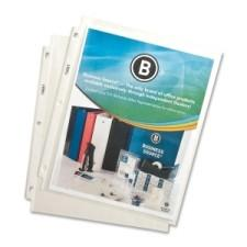 """Business Source Top Loading Sheet Protector for 8.5"""" x 11"""" Clear - 100/Box"""