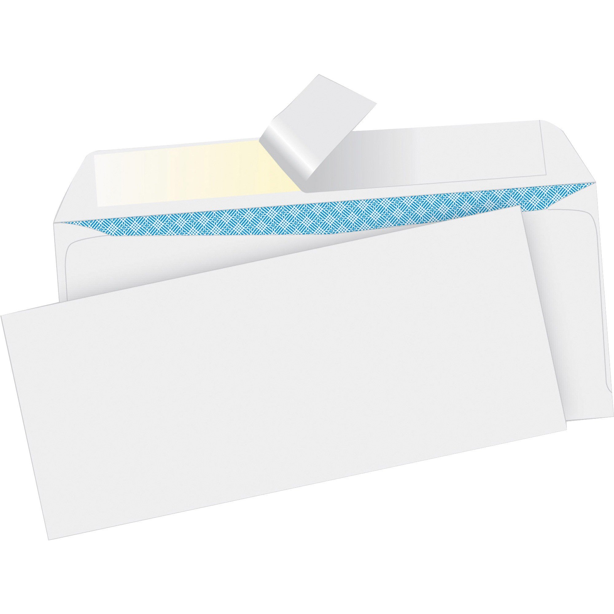 "Business Source #10 (9.50"" x 4.13"") Regular Tint Peel/Seal White Envelopes  - 500/Box"