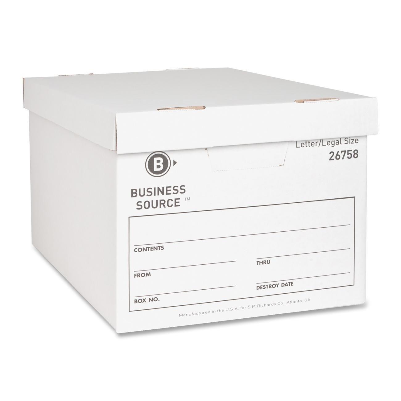 Business Source Lift-off Lid Medium Duty Storage Box - 12 Pack