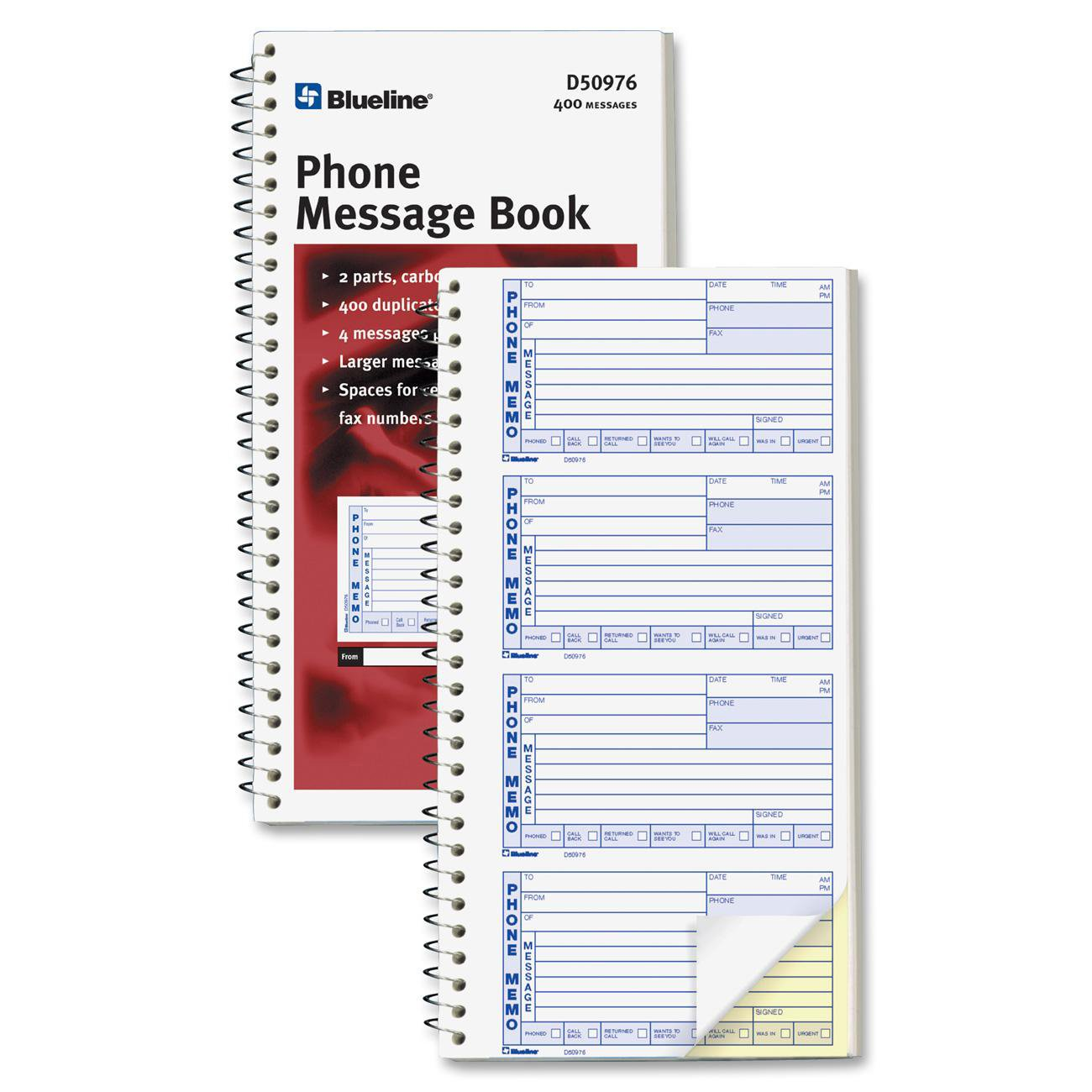Blueline 400 Message Book - Each