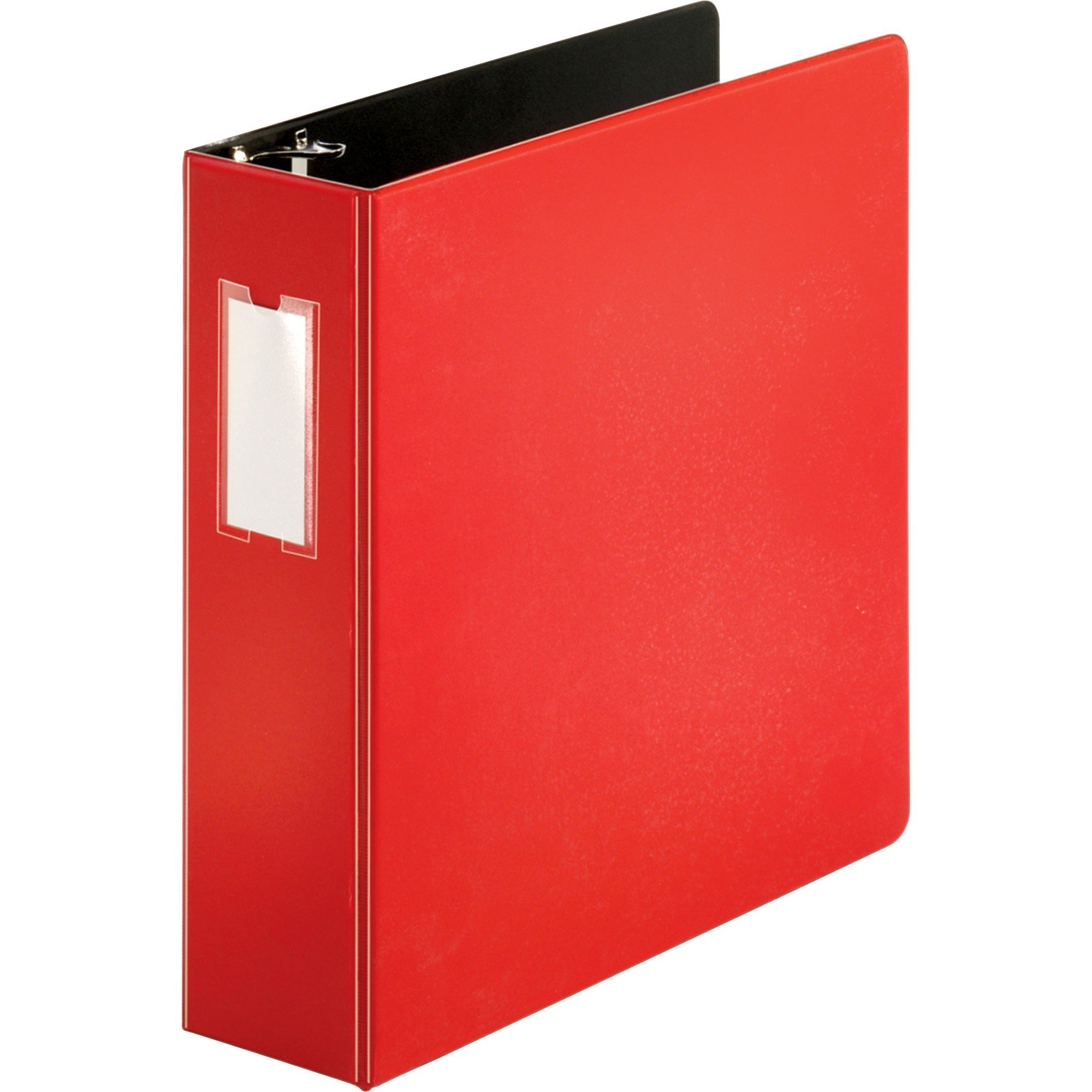 "Business Source 3"" Letter 8 1/2 x 11"" D-Ring Red Binder - 1 Each"