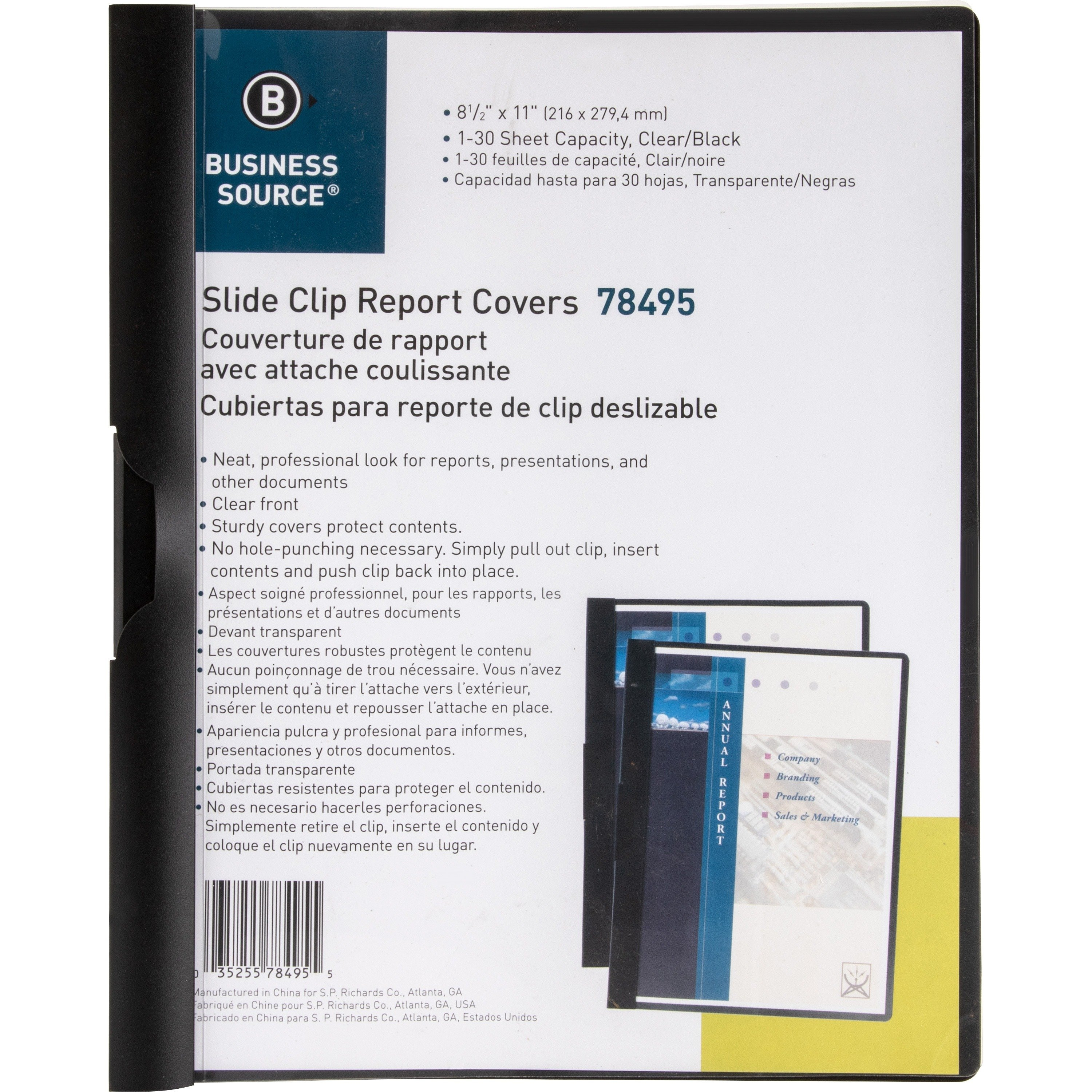 Business Source Patented Clip Report Covers - Each
