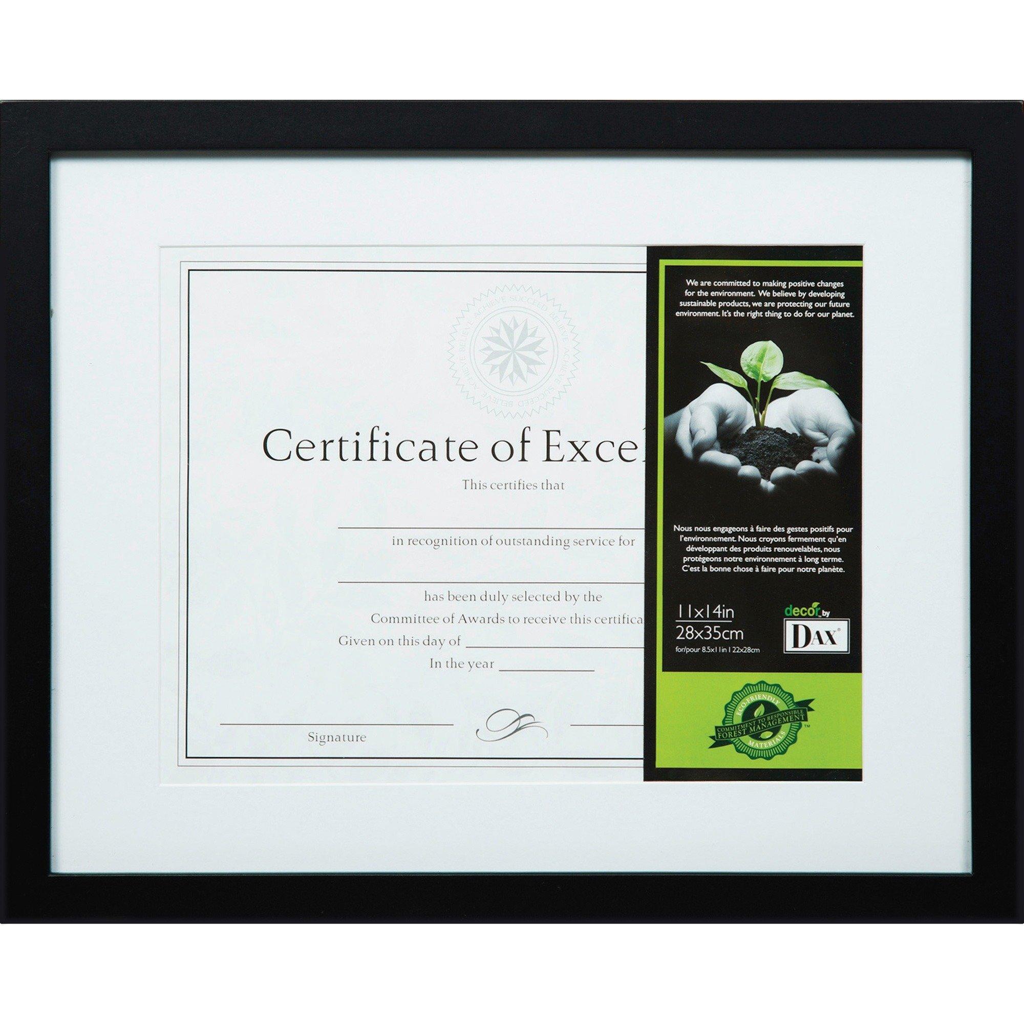 "DAX FSC Certified Black Wooden Frame 11"" Width x 14"" Height"