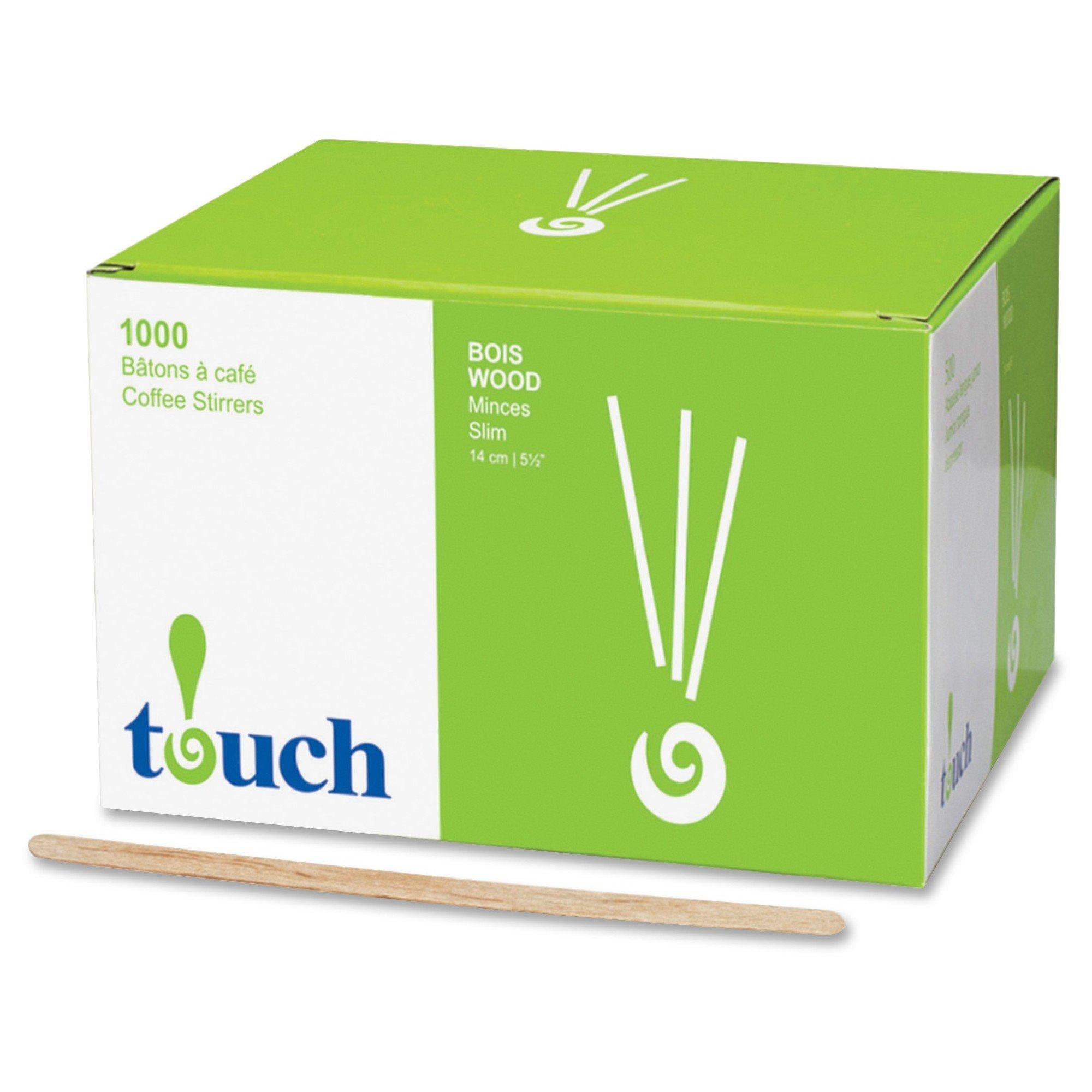 "Touch Stone Straw Wooden Coffee Stir Sticks 7"""