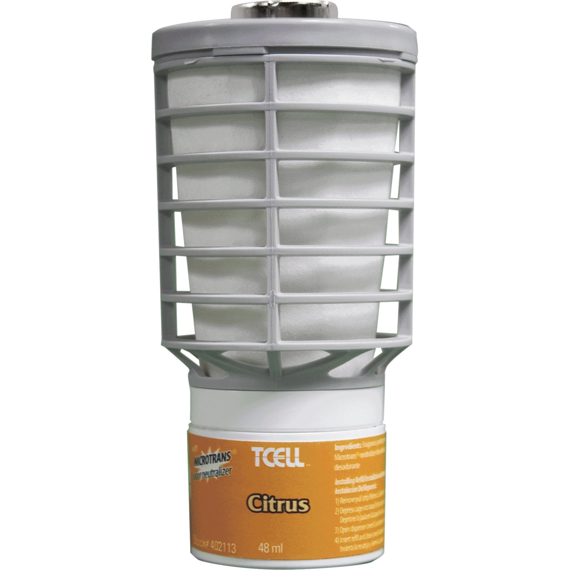Rubbermaid Air Freshener TCell Refill - Citrus - 6/case