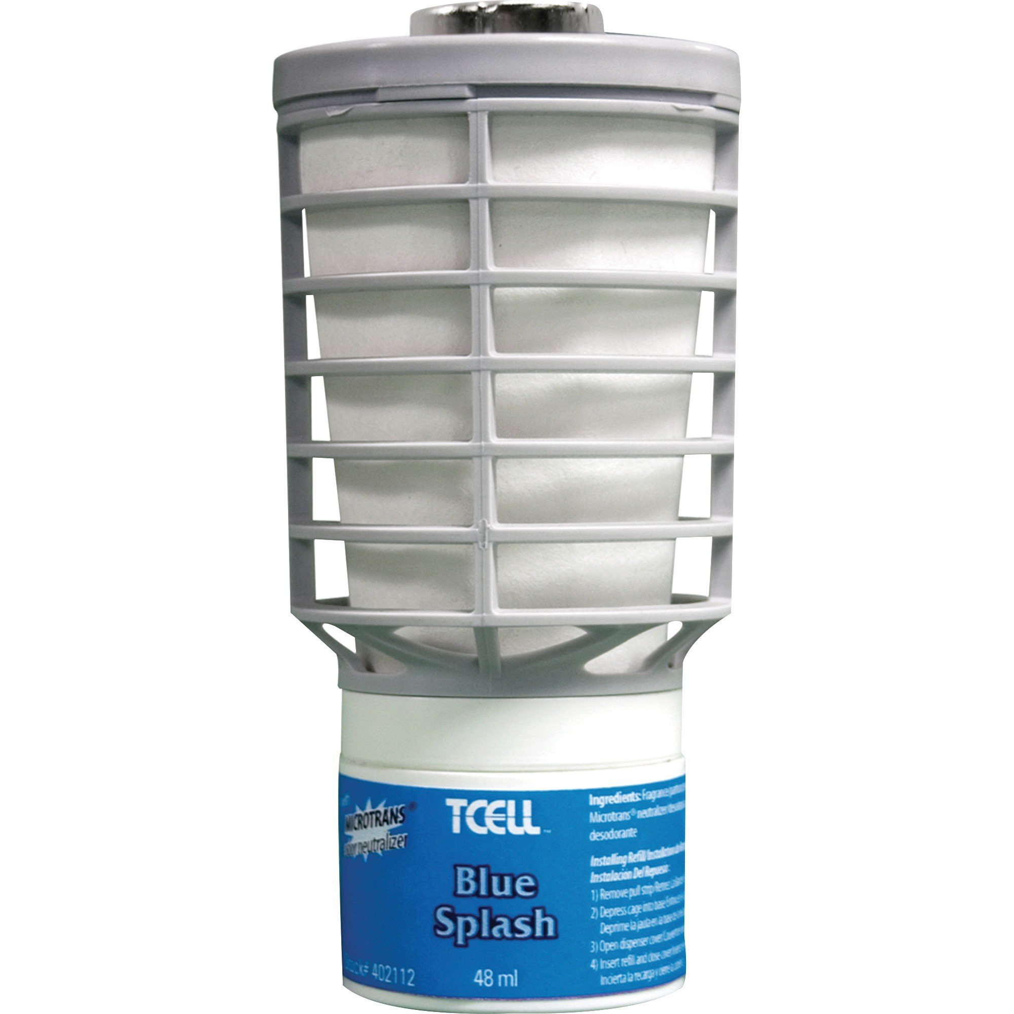 Rubbermaid Air Freshener TCell Refill - Blue Splash - 6/case