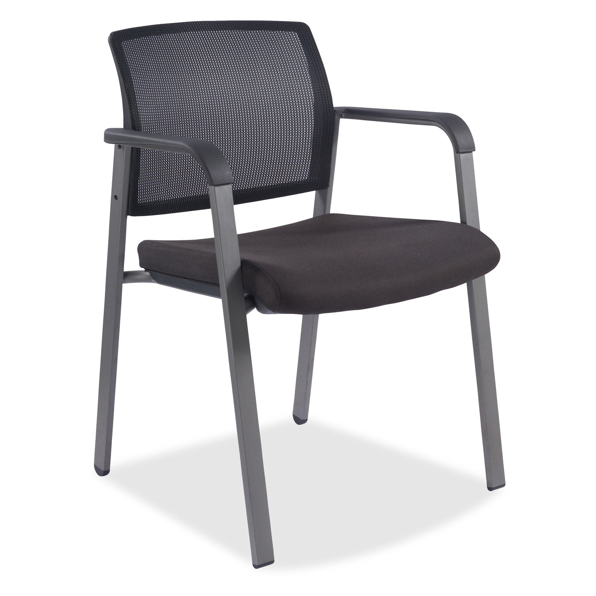 Lorell Black Arm Guest Chair