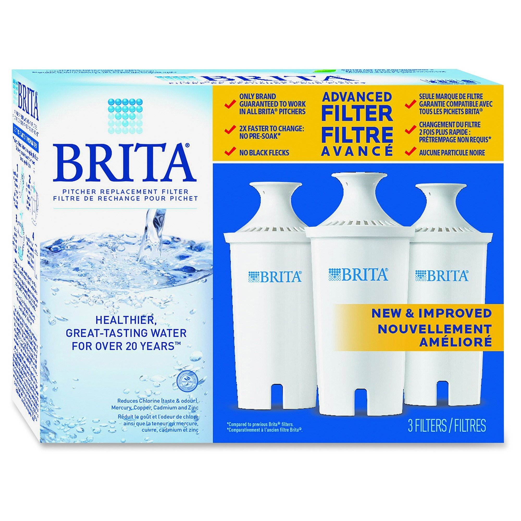 Brita Pitcher Replacement Filters 3/Pack
