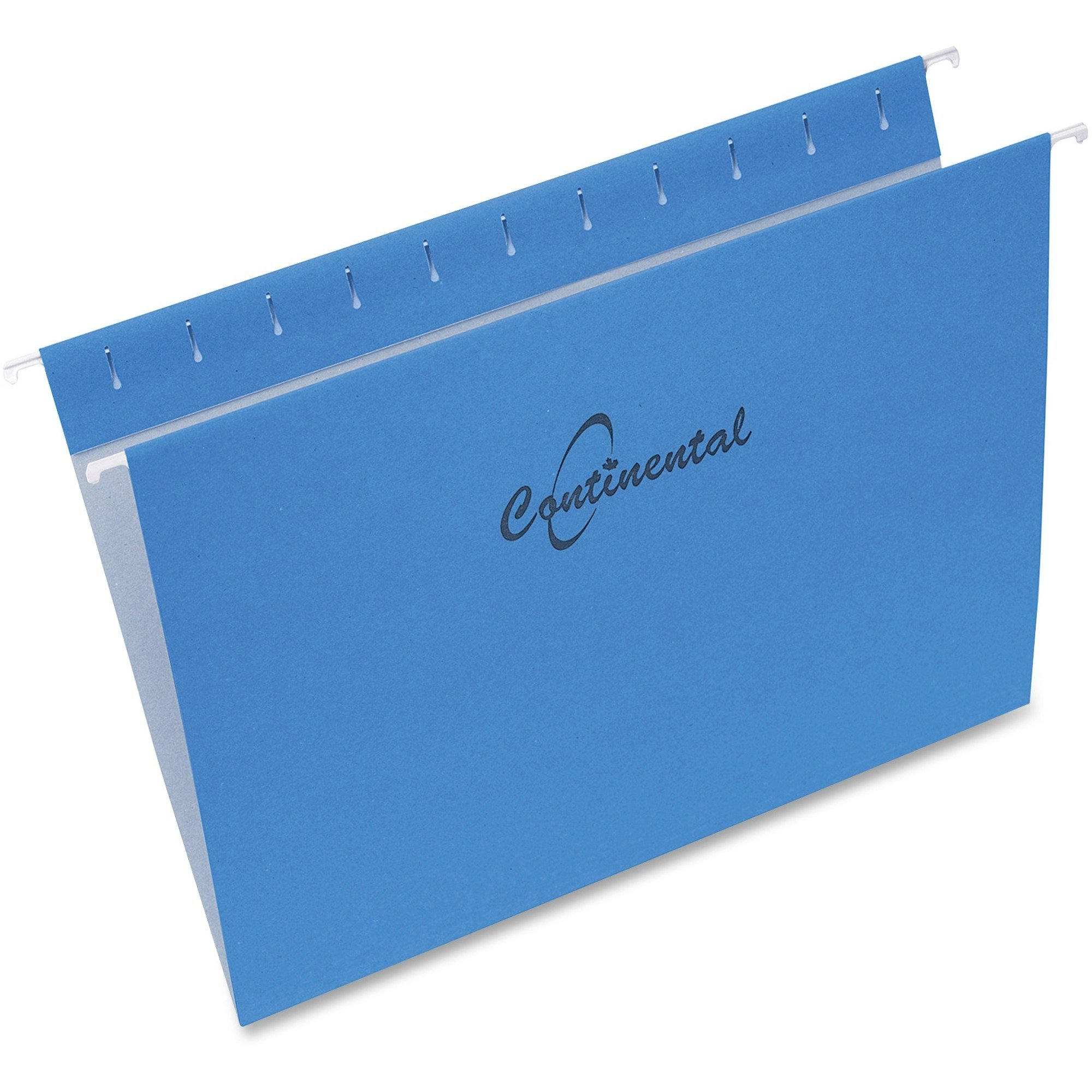 """Continental Blue Hanging Folders 8.5 x 11"""" Sheet Size - Recycled - 25/Pack"""