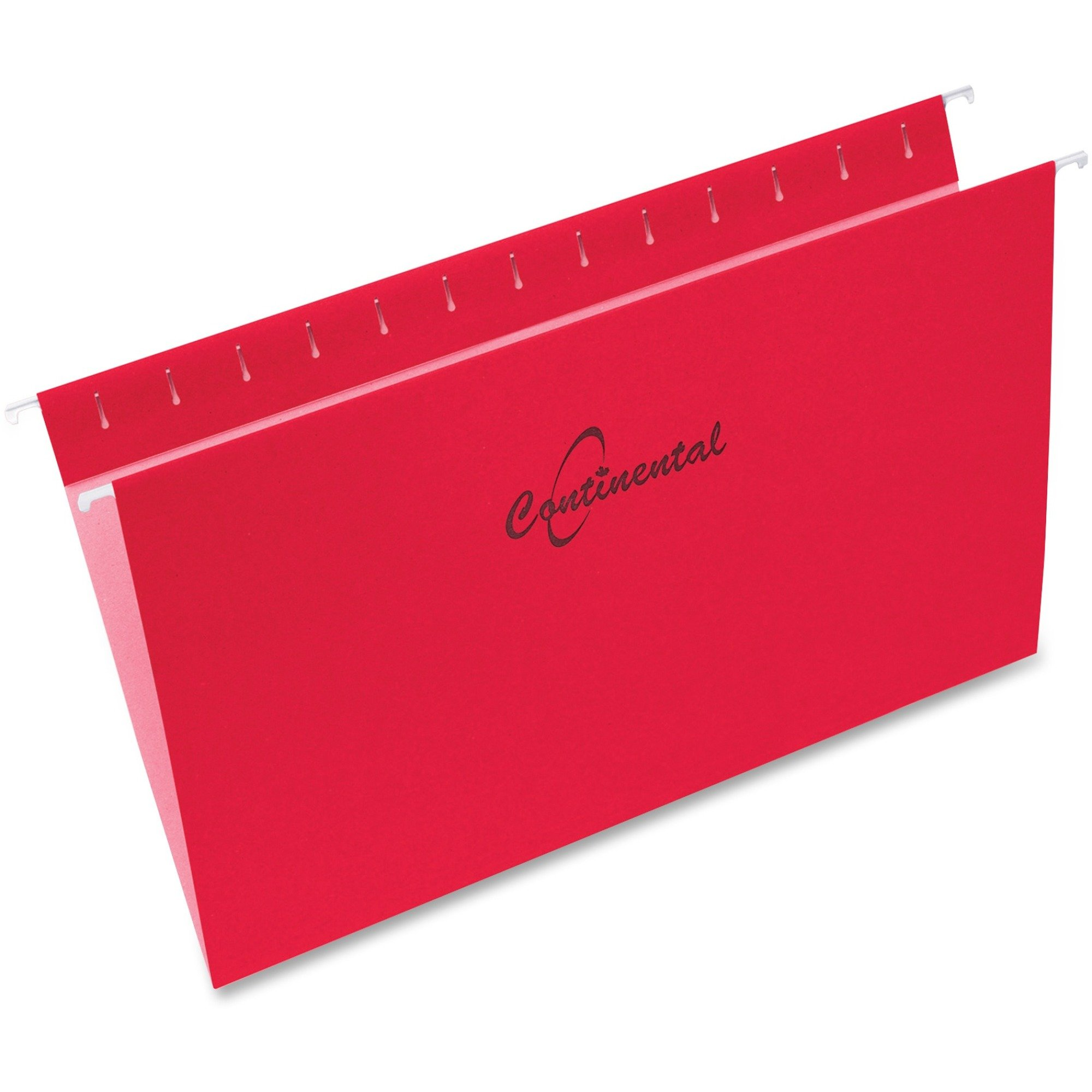 Continental Legal Size Red Hanging File Folders - 25/Box