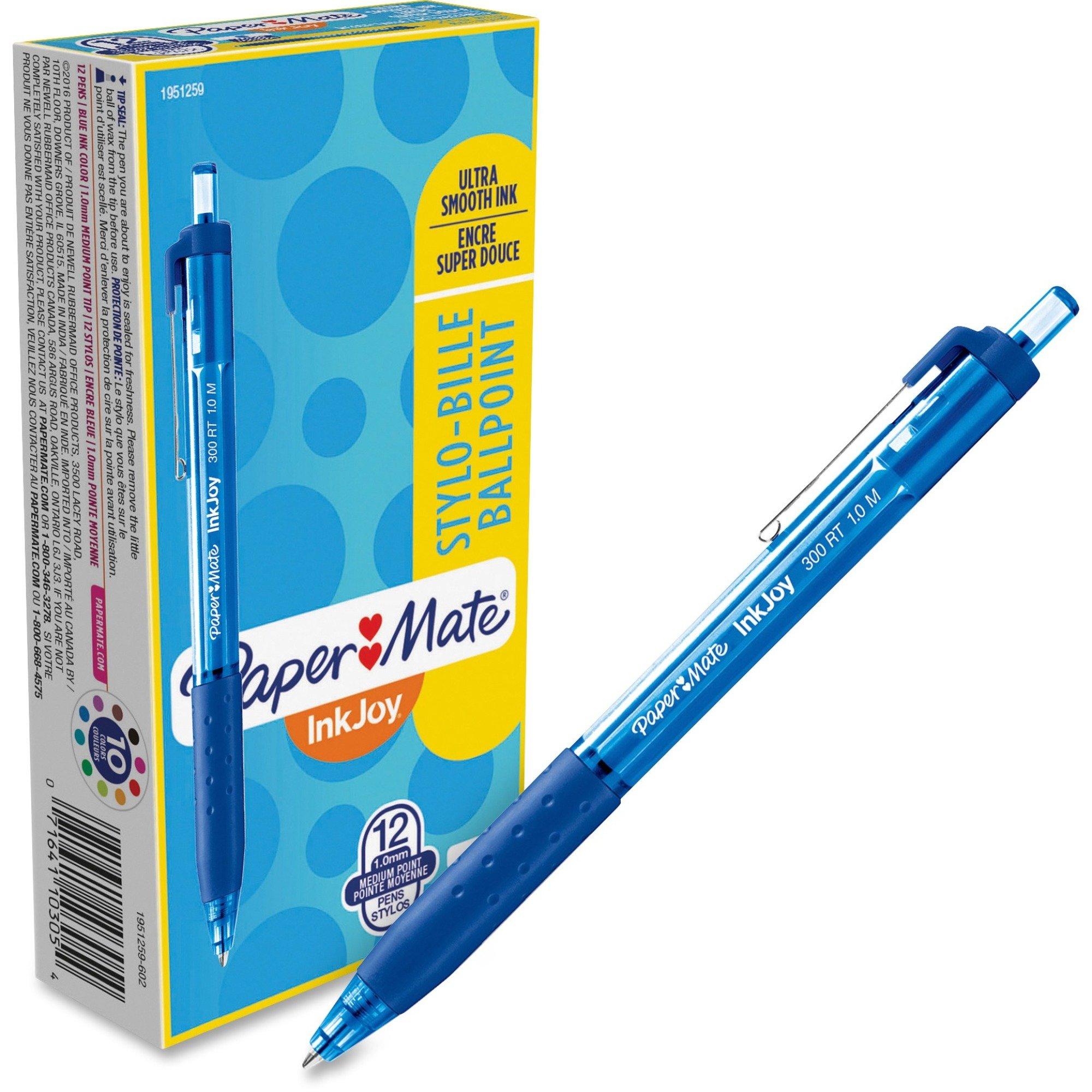 Paper Mate Inkjoy 300 RT Blue Ballpoint Pens - 12/Box