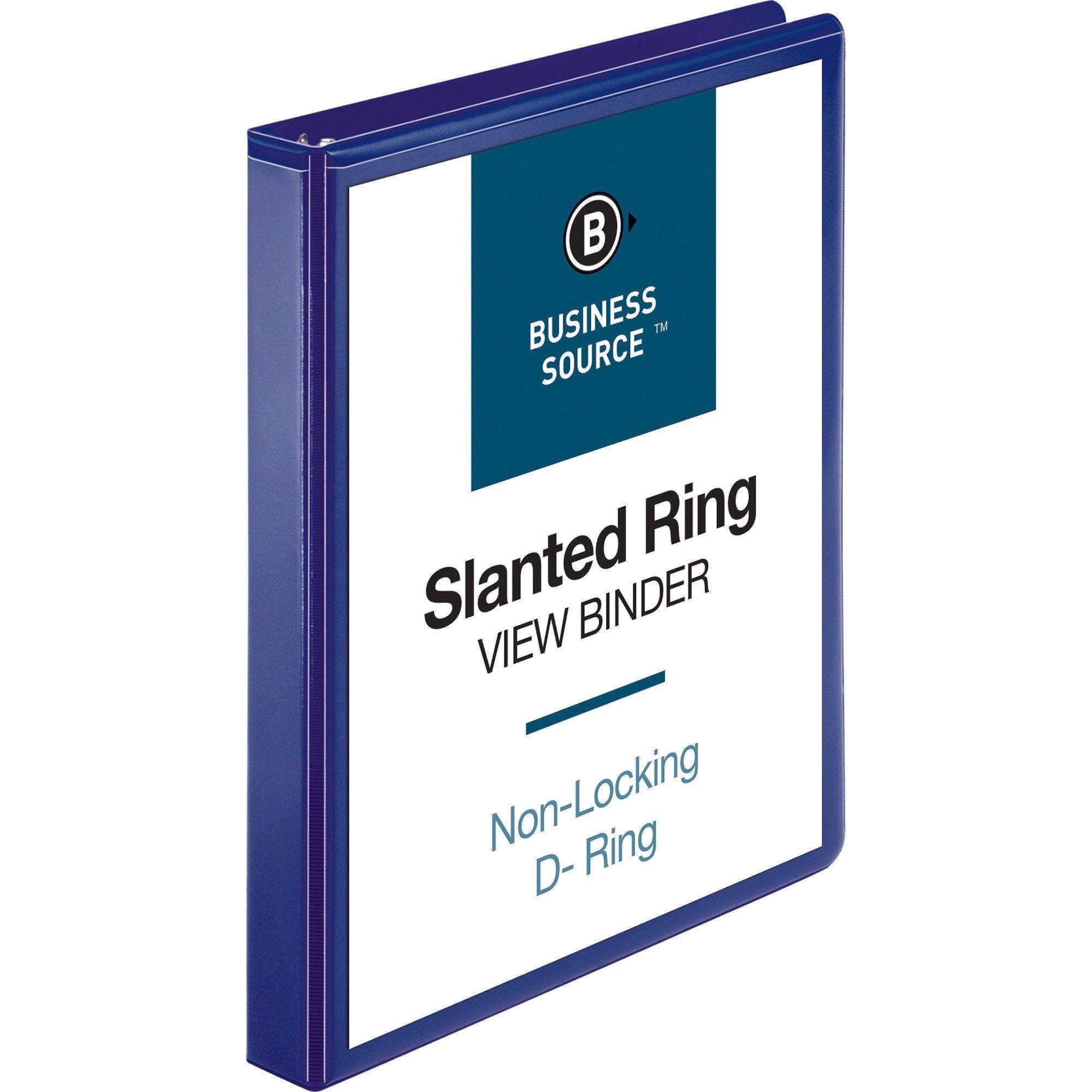 "Business Source Presentation Binder - 1"" - D-Ring - Navy Blue - 1 Each"
