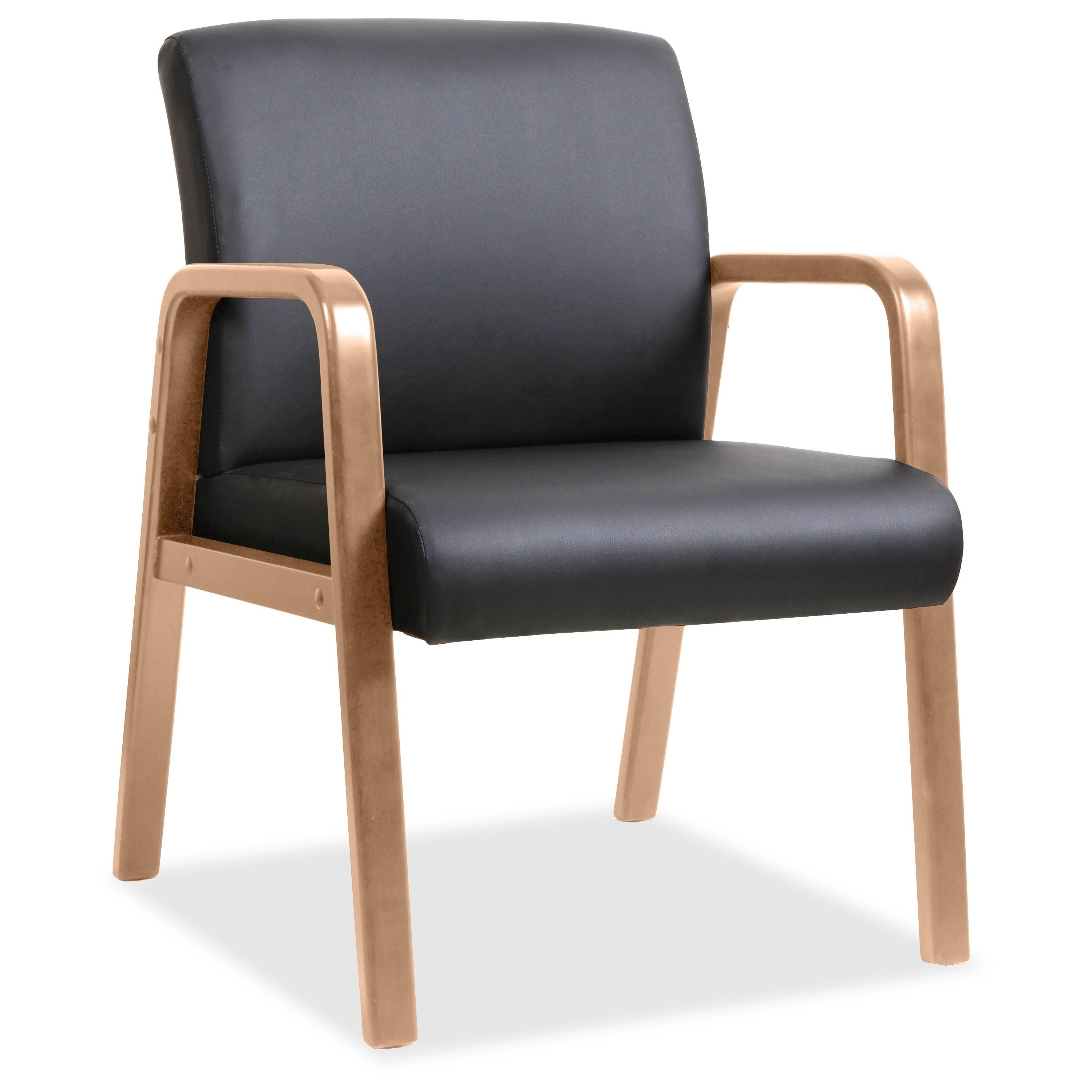Lorell Walnut Arm Guest Chair
