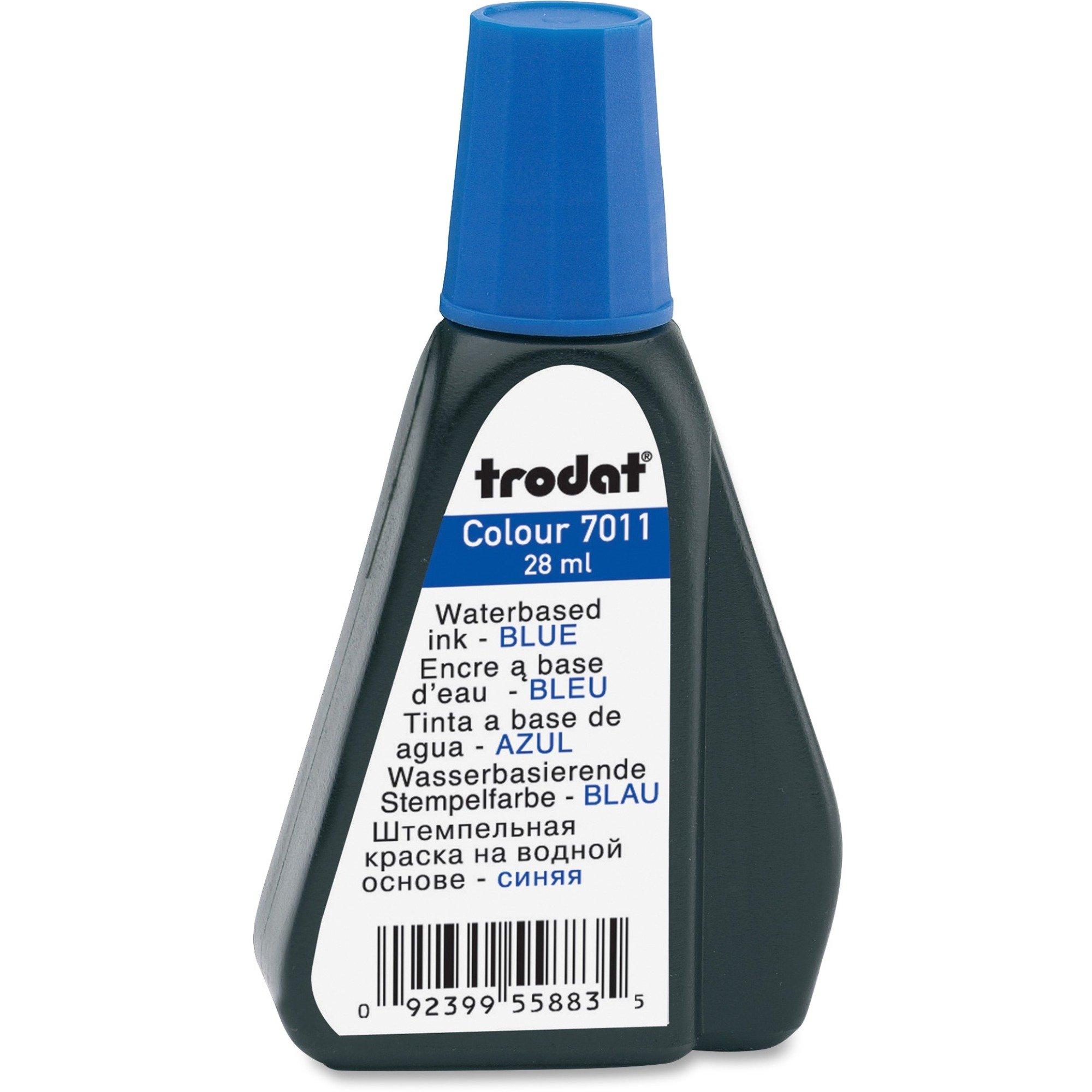 Trodat Stamp Pad Ink Blue Refill - Each