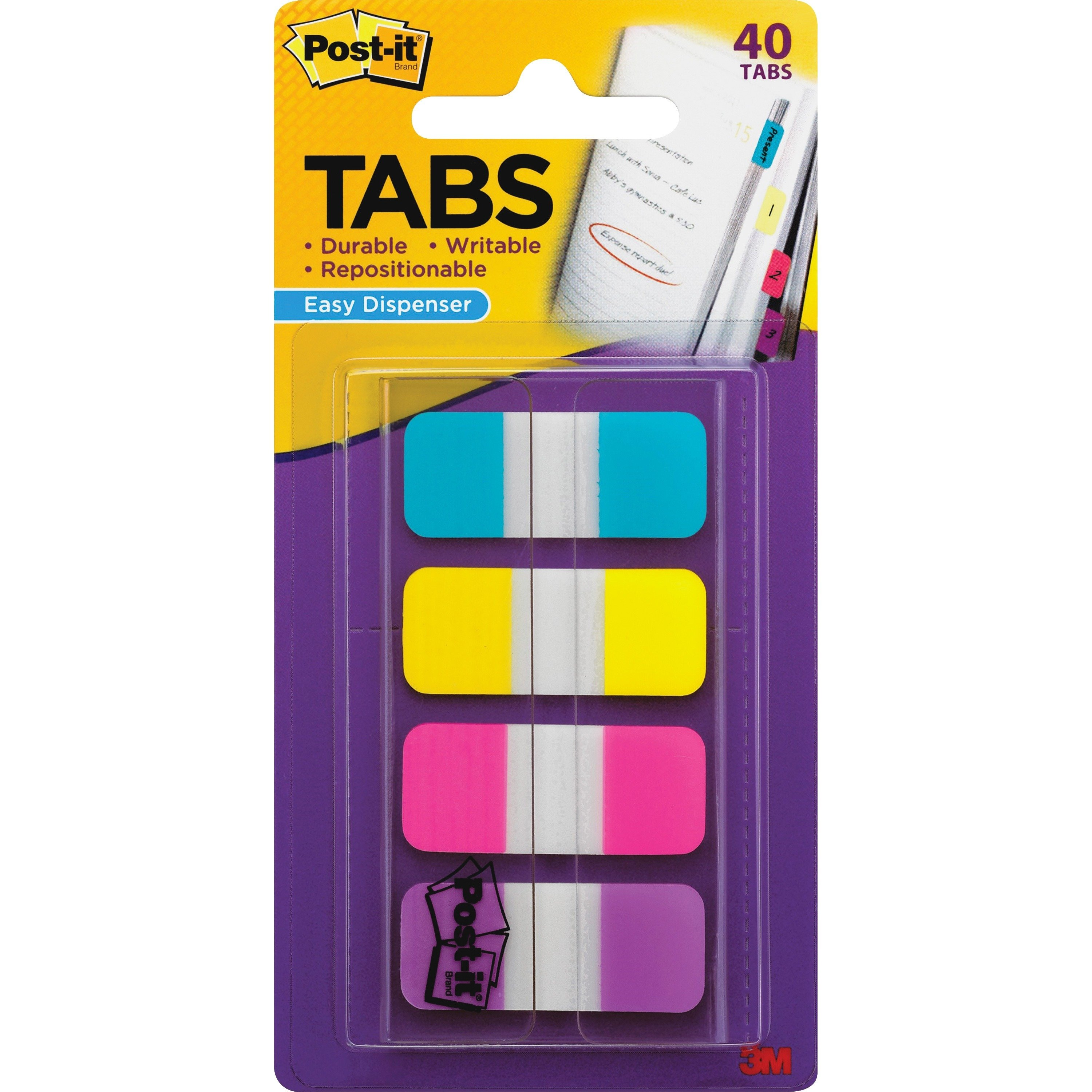 Post-it® Easy Dispenser Assorted Tabs - Each