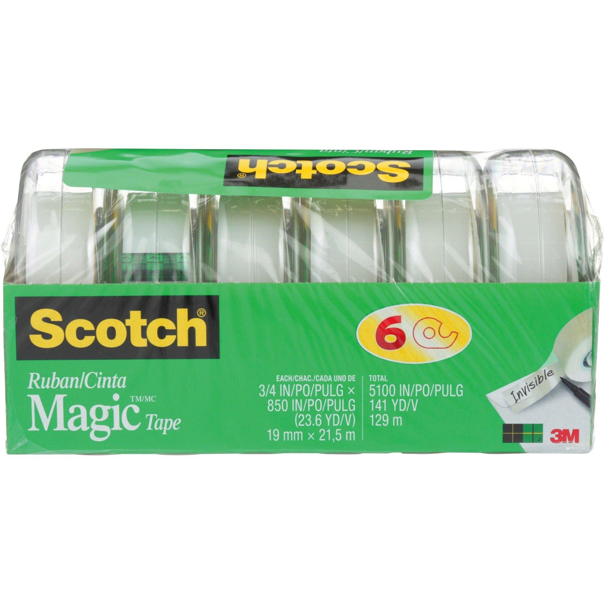 Scotch Magic™ Gift Craft Tape 19mm x 21.5m Length - 6/Pack