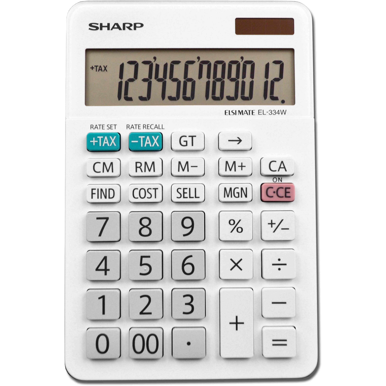 Sharp EL-334WB 12-Digit Business Calculator