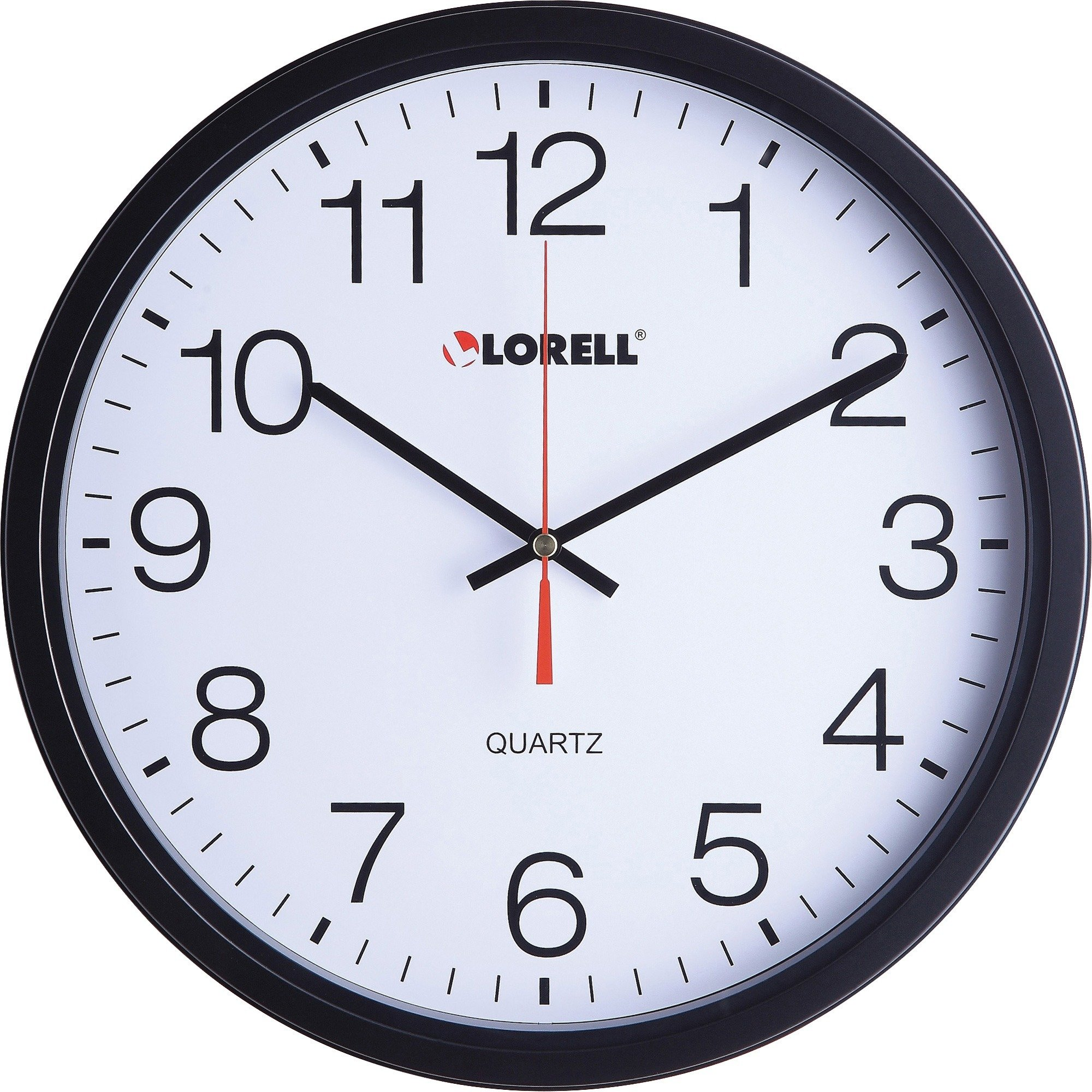 "Lorell 12-1/2"" Slimline Wall Clock - Each"