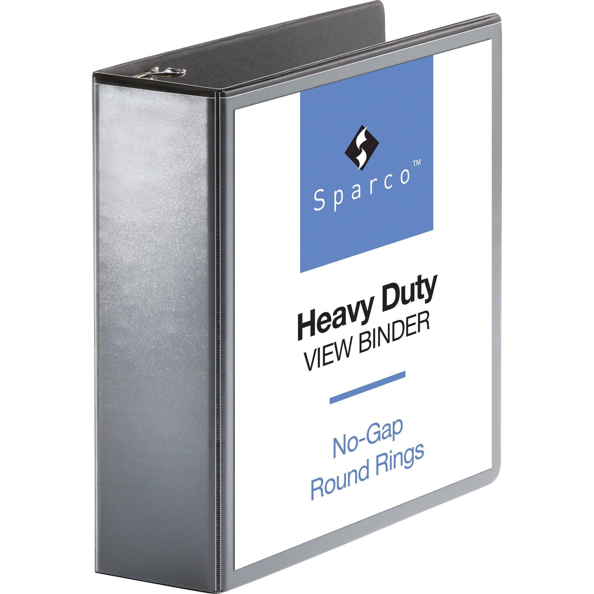 "Business Source Heavy-duty 3"" Letter 8 1/2 x 11"" D-Ring Binder Black - 1 Each"