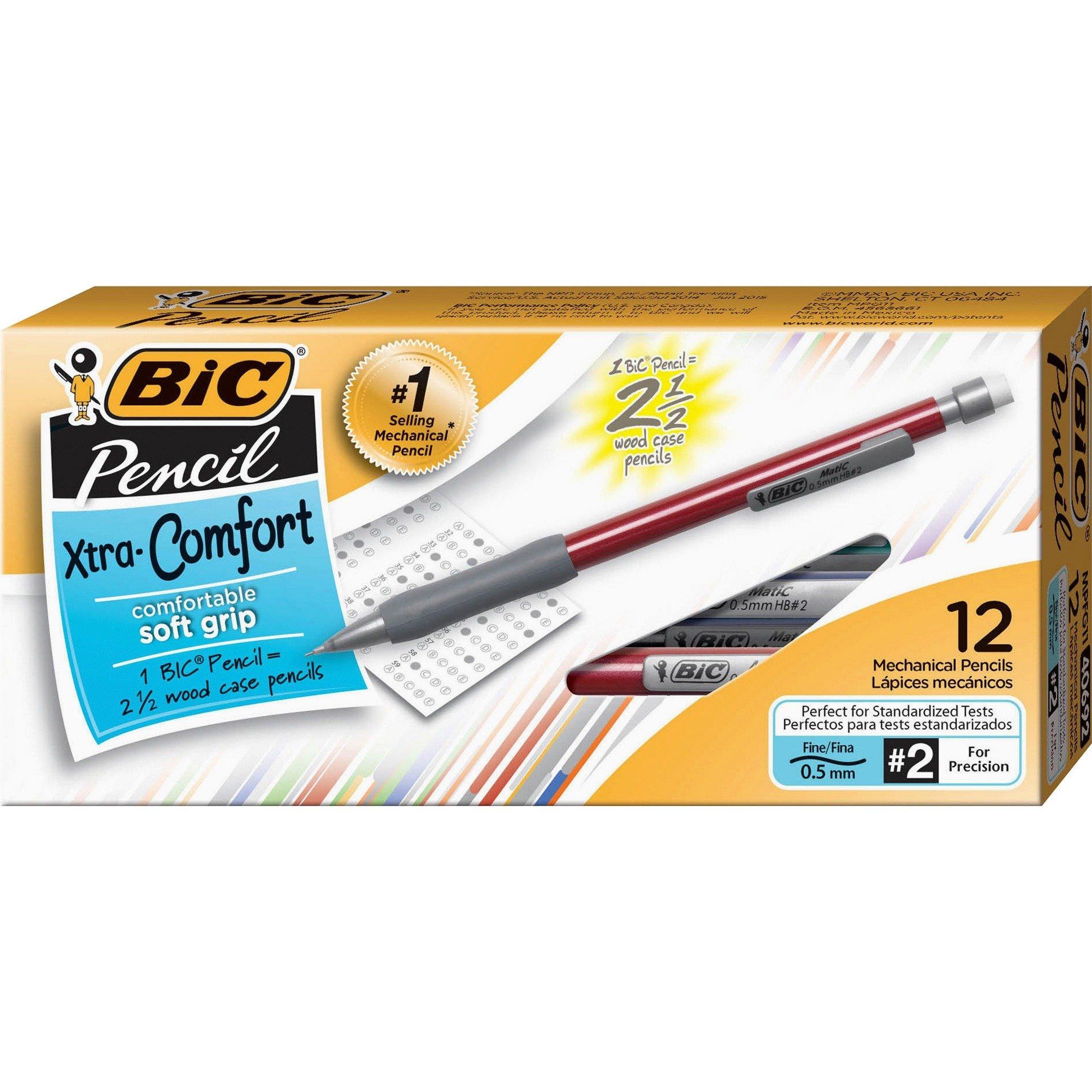 BIC Extra Grip Matic Grip Mechanical Pencils - 12/Pack