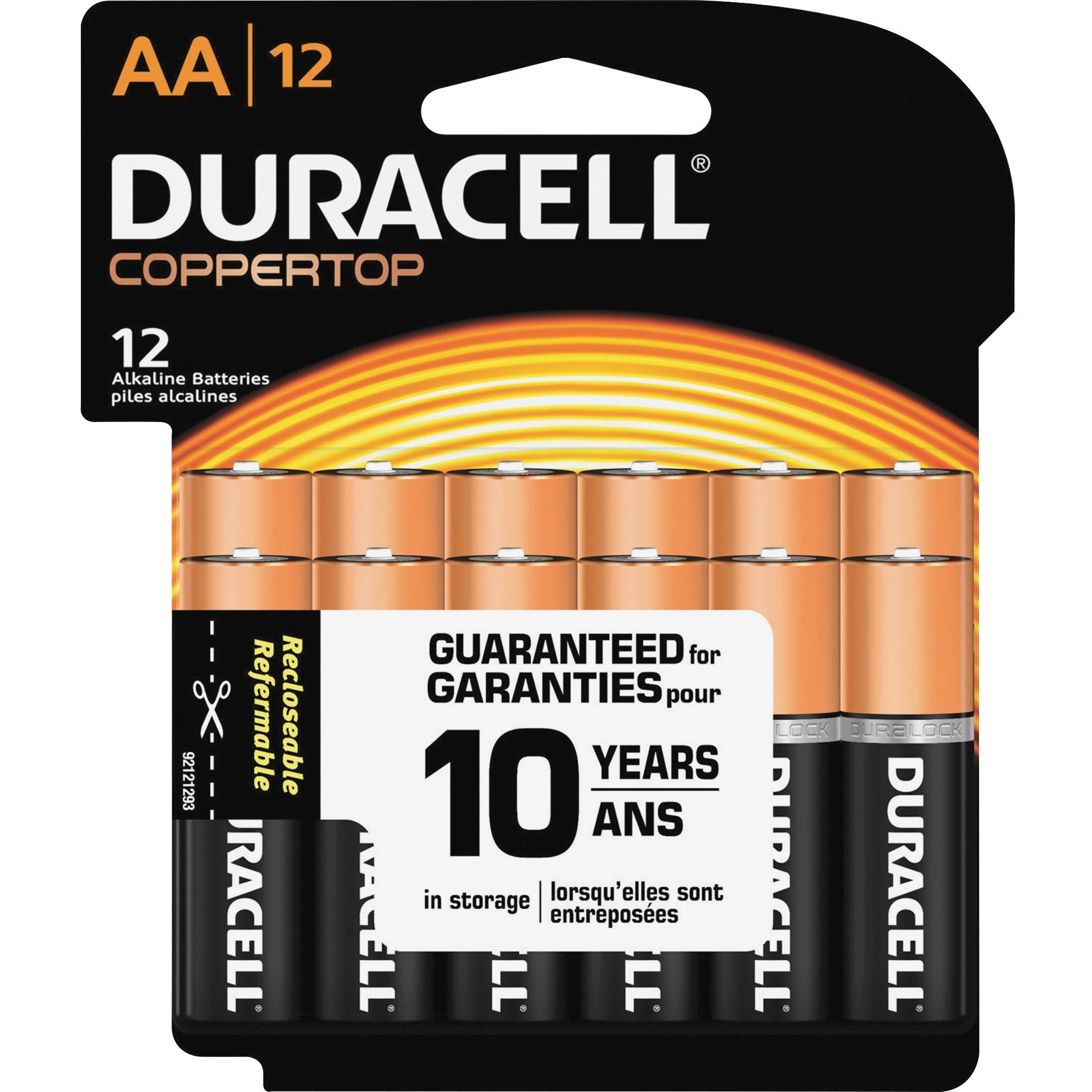 Duracell Coppertop Alkaline AA Batteries - MN1500 - 12/Pack