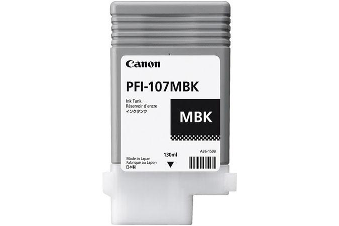Canon Original 130 ml Pigment Matte Black Ink Tank PFI-107MBK